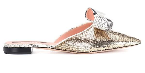 "Flats, $705, Rochas at [MyTheresa](https://www.mytheresa.com/en-au/rochas-sequinned-slippers-902120.html?catref=category|target=""_blank"")"