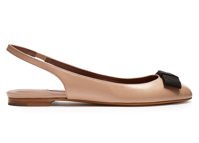 """Flats, $365, Tabitha Simmons at [Matches Fashion](https://www.matchesfashion.com/au/products/Tabitha-Simmons-Ingrid-leather-ballet-flats-1152616