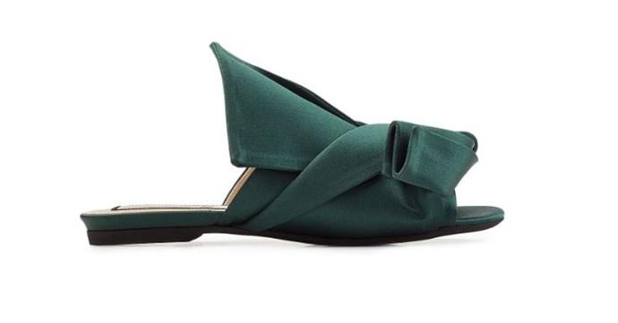 "Flats, $595, N°21 at [Stylebop](https://www.stylebop.com/en-au/women/satin-sandals-278324.html|target=""_blank"")"