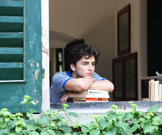 Timothée Chalamet in *Call Me By Your Name*.