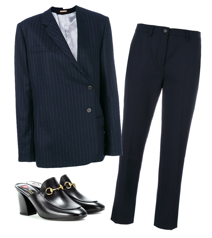"Blazer, $944, [Nehera at farfetch.com](https://www.farfetch.com/au/shopping/women/nehera-pinstripe-off-centre-blazer-item-12513913.aspx?storeid=9686&from=1|target=""_blank""