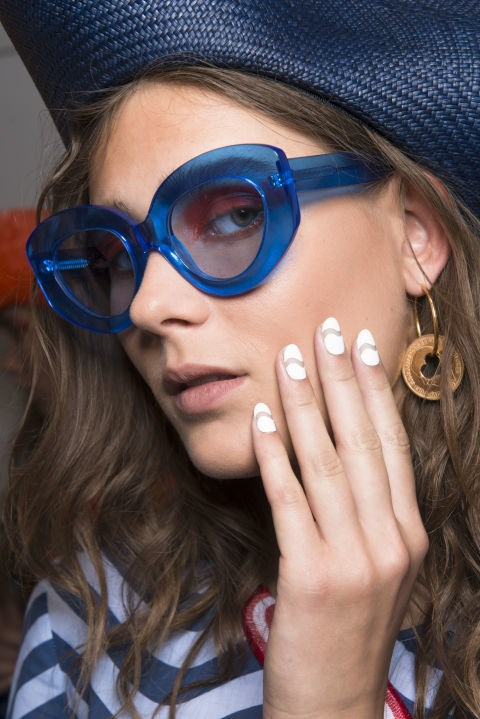 **Geometric Nail Art** <br><br> Between sweater nails, geode tips and finger hair extensions, last year's nail trends got a little too weird for our liking. Look to 2018 for a more pared back approach to nail art and the return of more minimal **geometric shapes**. <br><br> **Pinterest Increase:** 83%