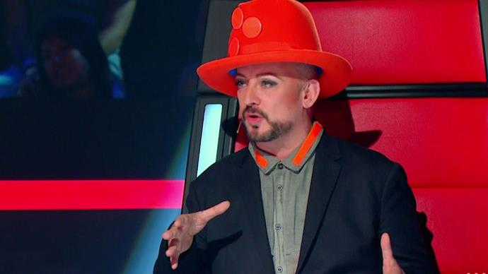 **9. Boy George:** The English musician was a coach on *The Voice Australia*, and we're guessing lots of (young) people had to google him to find out who he was.
