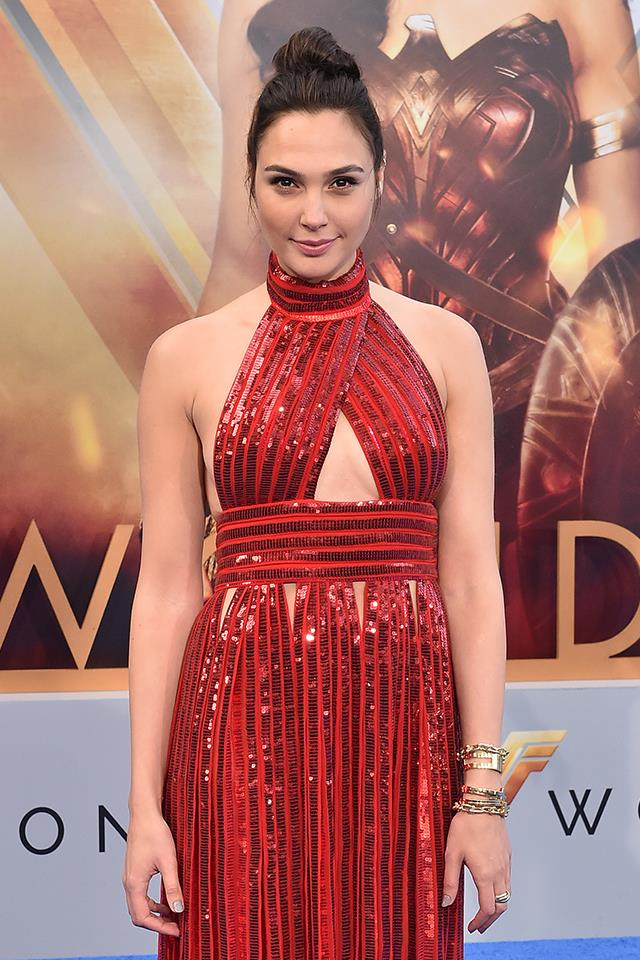 **4. Gal Gadot:** Prior to being cast as the titular character in *Wonder Woman*, not much was known about this stunning Israeli actress. Searches spiked in May and June, around the time of *Wonder Woman*'s theatrical release.