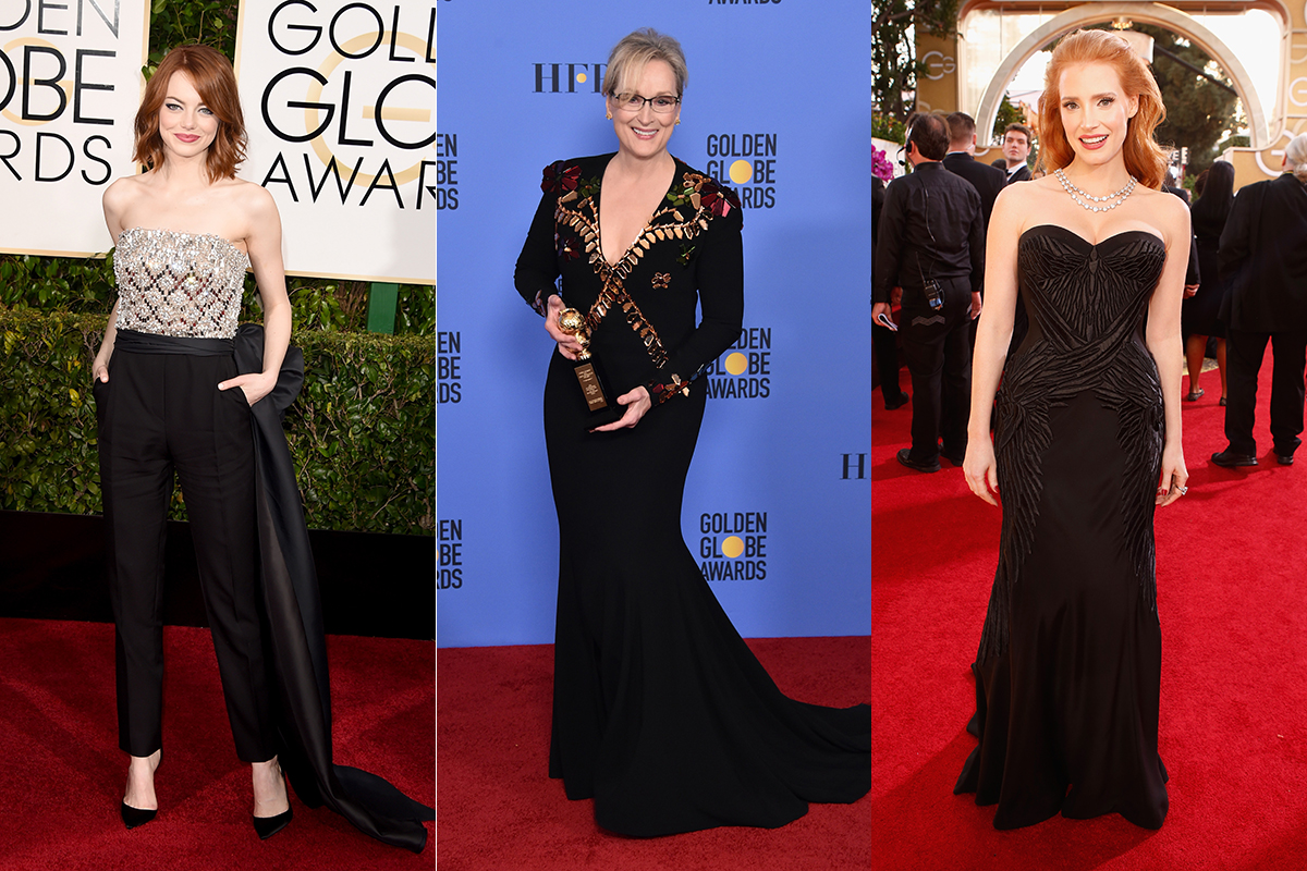 Golden Globes Fashion Statement: Actresses Will Wear Black to Protest Harassment