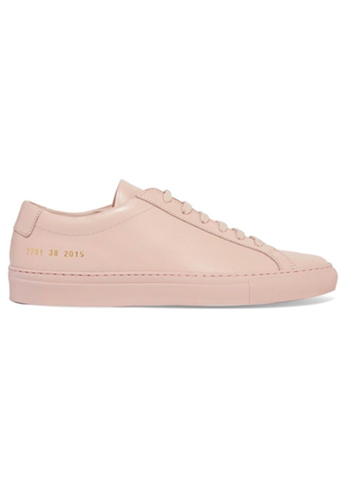 """Sneakers, $383, Common Projects at [Net-A-Porter](https://www.net-a-porter.com/au/en/product/950902/common_projects/original-achilles-leather-sneakers