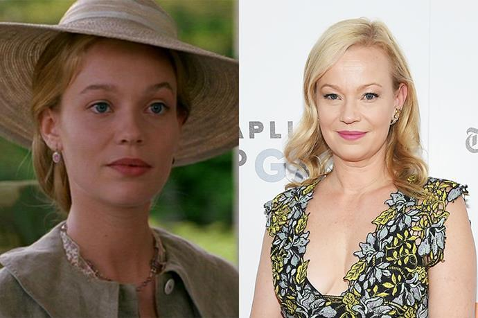 **Who:** Older Amy March, who grows up to be a painter and marries Laurie, the girls' neighbour and Jo's childhood best friend. <br><br> **Played by:** Samantha Mathis. <br><br> **Where is she now?** Following *Little Women*, Mathis has worked consistently across film and TV, most notably *American Psycho* with her *Little Women* love interest, Christian Bale.