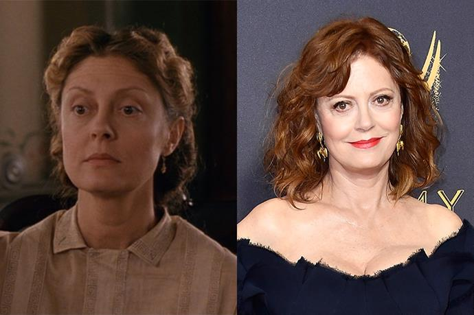 **Who:** Margaret 'Marmee' March, the strong matriarch of the family. <br><br> **Played by:** Susan Sarandon. <br><br> **Where is she now?** Sarandon has worked consistently since *Little Women*, starring in *Stepmom*, *Enchanted*, *The Lovely Bones*, and the show *Feud*, to name a few.