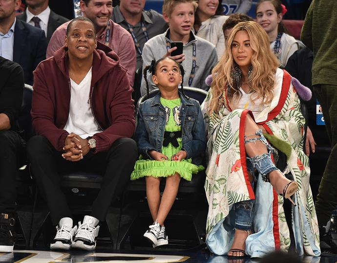 "That time Beyoncé wore a [$22,000 Gucci kimono](https://www.elle.com.au/fashion/beyonce-wearing-gucci-outfits-14246|target=""_blank"") to the NBA All-Star Game."