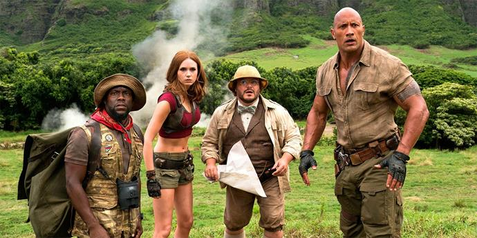 ***Jumanji: Welcome to the Jungle*** <br><br> **Release date:** December 26 <br><br> **Synopsis:** Four school kids come across a mysterious video game called Jumanji during detention. Out of curiosity, they start playing the game and end up getting pulled into the jungle as the characters they have selected (Dwayne 'The Rock' Johnson, Kevin Hart, Jack Black and Karen Gillan). They have to successfully finish the game if they want to return to their normal lives, or they risk being stuck in the game forever. <br><br> **Watch if:** You're feeling nostalgic for the original 1995 movie (starring Robin Williams, Kirsten Dunst and Bonnie Hunt) and don't have super high expectations. You could have a few laughs.