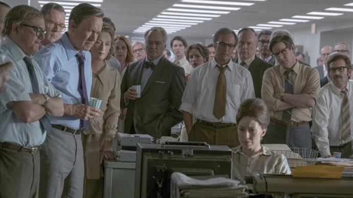 ***The Post*** <br><br> **Release date:** January 11 <br><br> **Synopsis:** *The Post* tells the true story of when journalists from *The Washington Post* and *The New York Times* battled with the US government to publish the *Pentagon Papers*, which was about the US government's involvement during the Vietnam War. <br><br> **Watch if:** You liked *Spotlight*, are really into how journalists expose massive cover-ups, and enjoy films starring Meryl Streep and Tom Hanks that also happen to be directed by Steven Spielberg. (This is the first time the three have worked altogether.)
