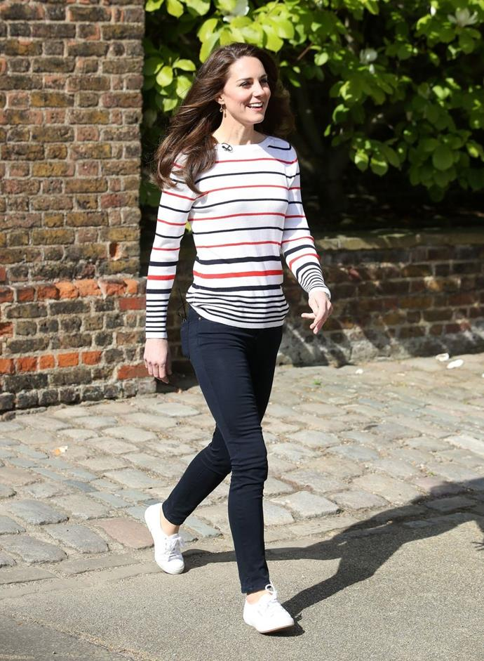 **$382** On April 19, Kate attended the London Marathon reception in a new Luisa Spagnoli top