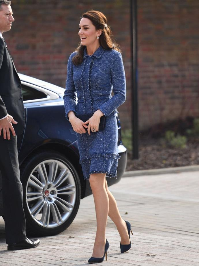 **$1,802** On February 28, Kate attended the Evelina House opening in a Rebecca Taylor dress and a Rebecca Taylor jacket.