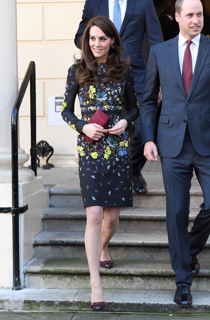 **$1,817** On January 17, Kate attended an event for the Heads Together campaign in an Erdem dress.
