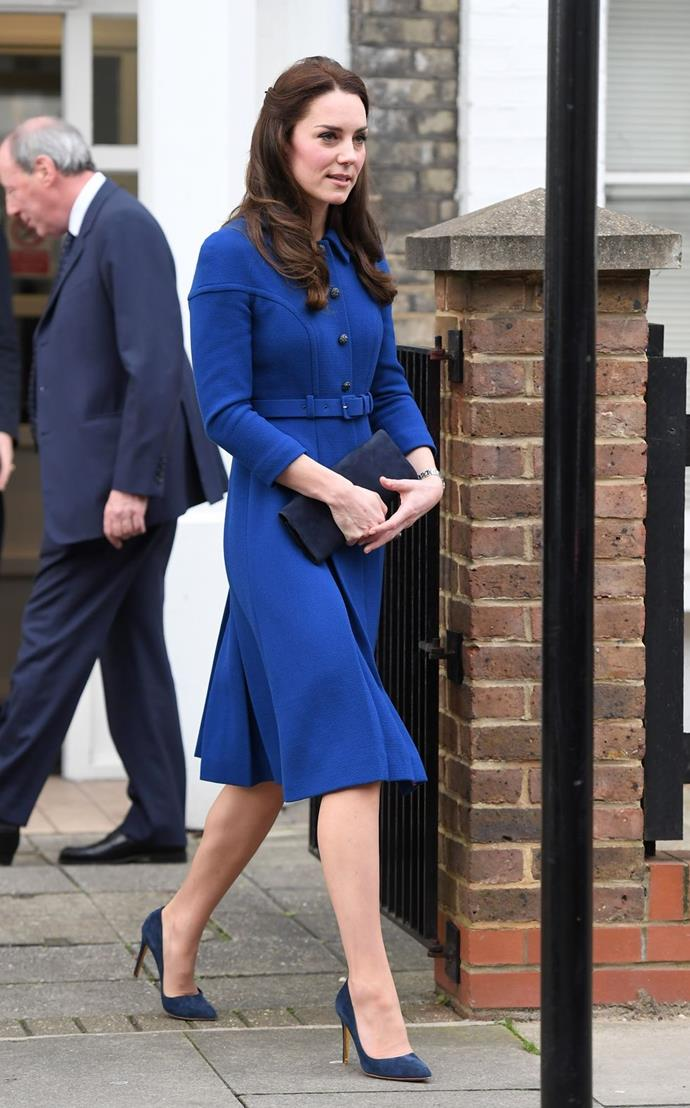 **$2,845** On January 11, Kate visited North London's Anna Freud Centre, wearing an Eponine dress.