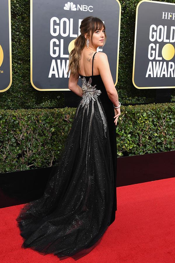 Dakota Johnson in Gucci.