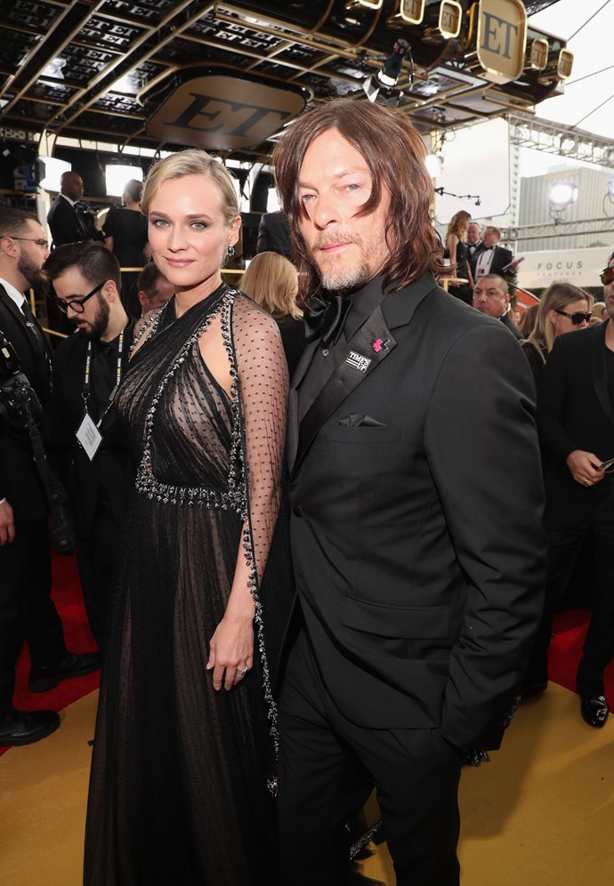 Diane Kruger and Norman Reedus.