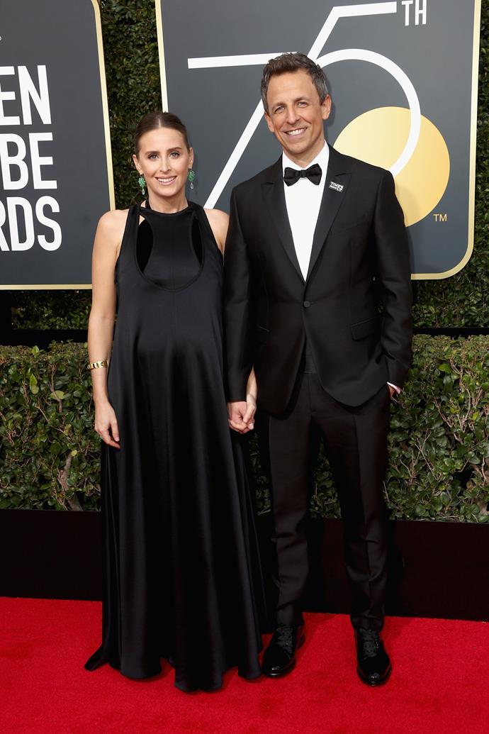 Seth Meyers and Alexi Ashe.