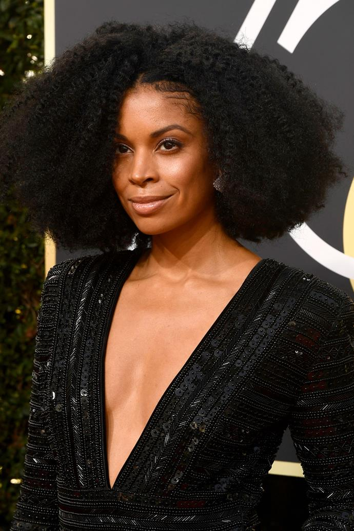 **Susan Kelechi Watson** <br><br> The actress rocked her natural 'fro on the red and we are all here for it.