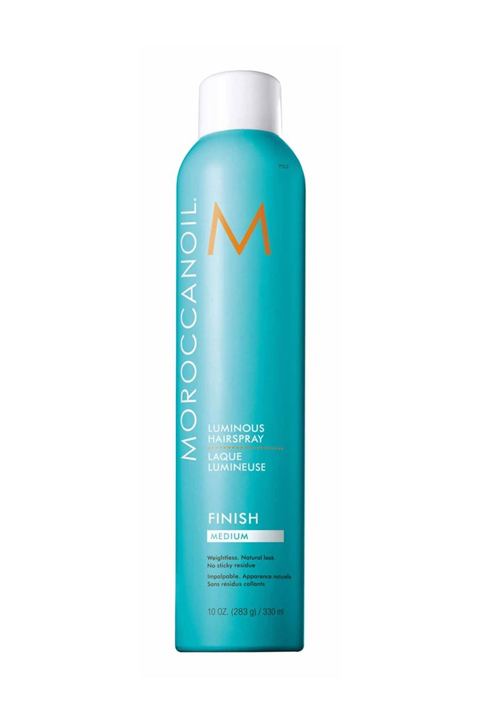 "Margot's hair stylist for the evening, Bryce Scarlett, ensured her locks stayed sleek and shiny by finishing her look with a spritz of Moroccanoil's Luminous Hairspray Medium. <br><br> **Moroccanoil Luminous Hairspray Medium, $42 at [ry.com.au](https://www.ry.com.au/moroccanoil-luminous-medium-hold-hair-spray-330ml/10406368.html|target=""_blank""