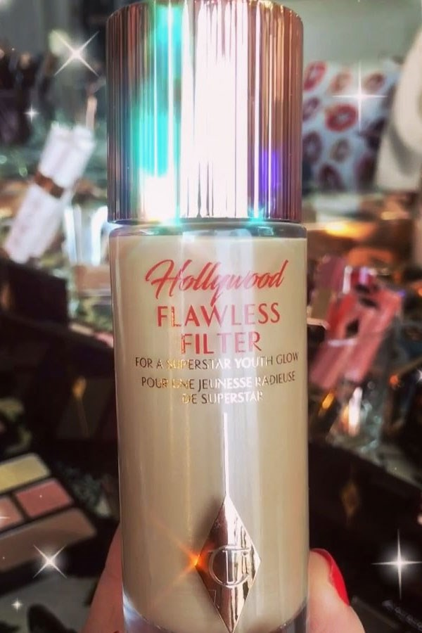 Gerwig was among the selected few actresses who sneakily debuted Charlotte Tilbury's soon to be released 'Flawless Filter' product on this year's red carpet.