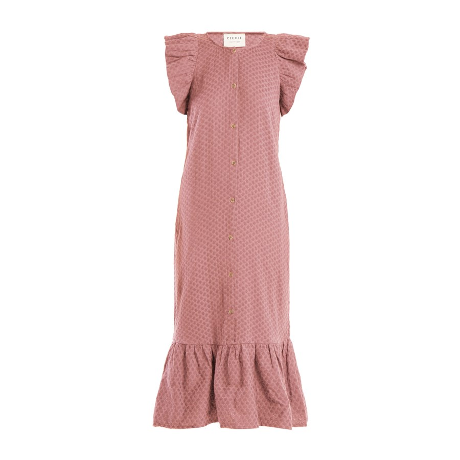 Dress, $325, [Cecilie Copenhagen at matchesfashion.com](https://www.matchesfashion.com/products/Cecilie-Copenhagen-Jehro-scarf-jacquard-cotton-dress%09-1188653|target=