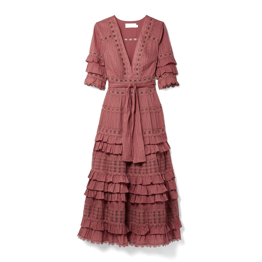 Dress, $1,100, [Zimmermann at net-a-porter.com](https://www.net-a-porter.com/au/en/product/993483/zimmermann/corsair-tiered-broderie-anglaise-cotton-midi-dress|target=