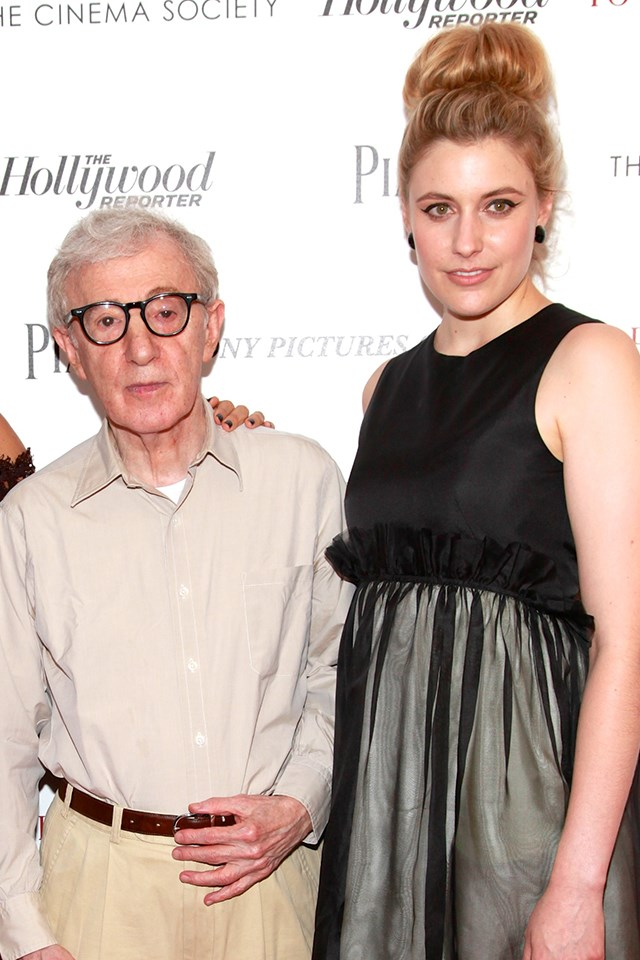 """**Greta Gerwig** <br><br> Gerwig, the director of Golden Globe-winning *Lady Bird* (who was snubbed from the Best Director category), collaborated with Allen on 2012's *To Rome With Love*. At the Golden Globes, she [side-stepped the question](https://pagesix.com/2018/01/08/greta-gerwig-side-steps-woody-allen-questions/
