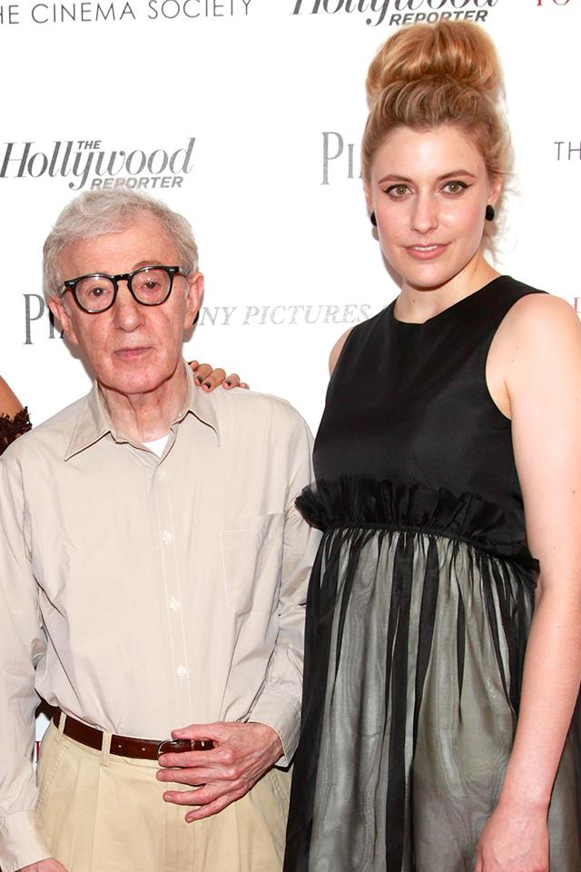 "**Greta Gerwig** <br><br> Gerwig, the director of Golden Globe-winning *Lady Bird* (who was snubbed from the Best Director category), collaborated with Allen on 2012's *To Rome With Love*. At the Golden Globes, she [side-stepped the question](https://pagesix.com/2018/01/08/greta-gerwig-side-steps-woody-allen-questions/|target=""_blank"") about working with Allen, but a few days later, she took part in an online conversation for [*The New York Times*](https://www.nytimes.com/2018/01/09/opinion/greta-gerwig-woody-allen-aaron-sorkin.html?mtrref=www.vanityfair.com&assetType=opinion