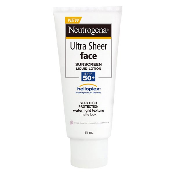 """**Neutrogena Ultra Sheer Face Lotion SPF 50+ Sunscreen, $16.99 at [Woolworths](https://www.woolworths.com.au/shop/productdetails/795386/neutrogena-ultra-sheer-face-lotion-spf-50-sunscreen
