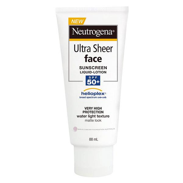 "**Neutrogena Ultra Sheer Face Lotion SPF 50+ Sunscreen, $16.99 at [Woolworths](https://www.woolworths.com.au/shop/productdetails/795386/neutrogena-ultra-sheer-face-lotion-spf-50-sunscreen|target=""_blank"").** <br><br> For Australians, wearing a daily sunscreen with a high SPF rating is an absolute must. This facial sunscreen by Neutrogena is lightweight enough to sit under foundation, making it perfect for everyday use. You won't even notice it's there—promise!"