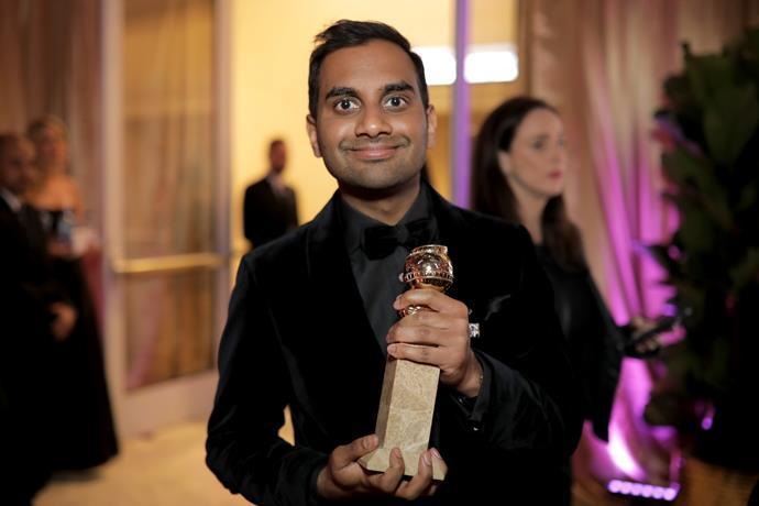 Ansari at the Golden Globes