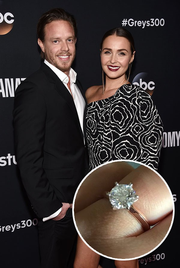 """*Grey's Anatomy* actress Camilla Luddington announced she got engaged to her long-time boyfriend Matthew Alan on New Year's Eve, captioning [her ring selfie](https://www.instagram.com/p/BeD66QDHc34/?taken-by=camillaluddington