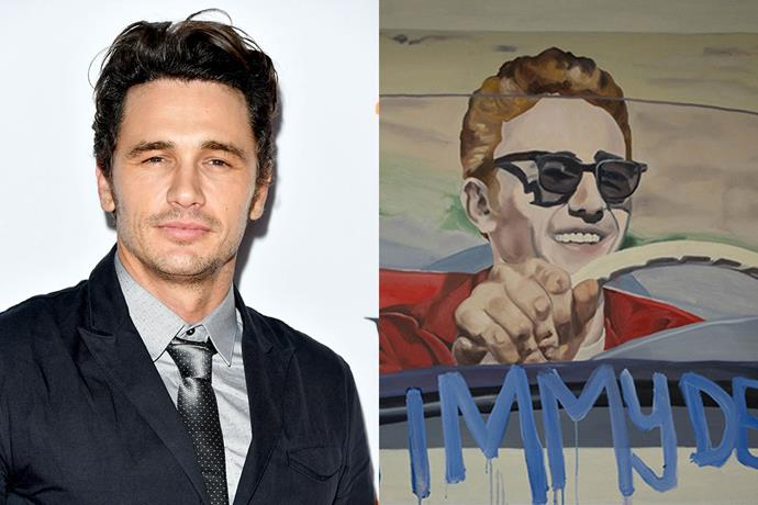**James Franco** <br><Br> When James Franco isn't making movies, the actor paints, sculpts and participates in gallery installations. He has contributed in collaborations and group shows all around the world, and combined his love for acting and art in *Carter's Erased James Franco* which was shown at MoMA in New York.