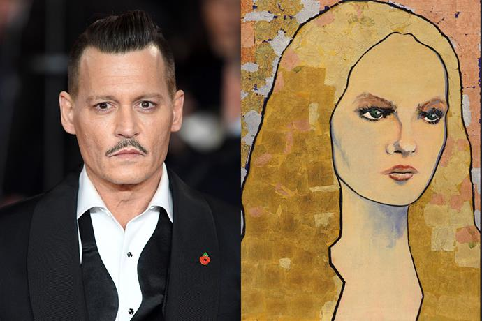 """**Johhny Depp** <br><br> Although Johnny Depp is mostly known for his acting skills, he is also an accomplished artist, and has painted celebrities such as Bob Dylan and Patti Smith. In an interview with [*Vanity Fair*](https://www.vanityfair.com/