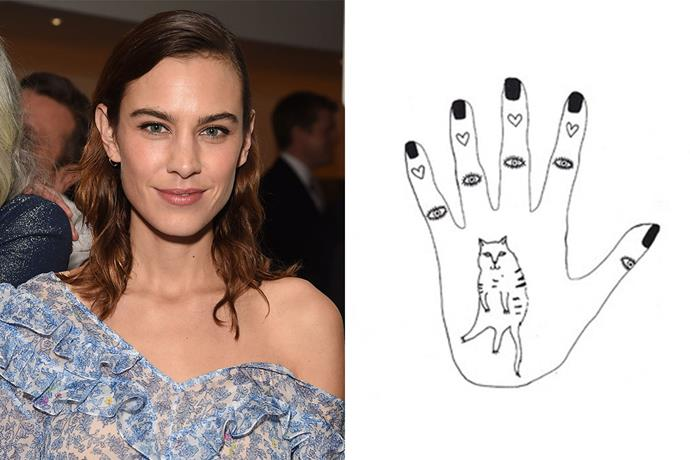 **Alexa Chung** <br><br> Besides being a writer, model and fashion designer, Alexa Chung is also a prolific illustrator. Her drawings appear in her book of influences, *It: Alexa Chung*, and on several products within her Eyeko beauty collaboration.