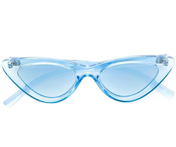 """Sunglasses, $148, Le Specs at [FarFetch](https://www.farfetch.com/au/shopping/women/le-specs-the-last-lolita-sunglasses-item-12584908.aspx?storeid=9124&size=17&pid=googleadwords_int&af_channel=Search&c=869412447&af_c_id=869412447&af_siteid=&af_keywords=aud-297012351259:pla-352577787013&af_adset_id=43893095956&af_ad_id=203398867194&is_retargeting=true&foundit=yes&gclid=Cj0KCQiAv_HSBRCkARIsAGaSsrCJvl5VIPOtTJRSqOoKR-piZk4W5mzkyBo-7_r2CY_4I9RcHPa3XG8aAo-tEALw_wcB target=""""_blank"""")."""