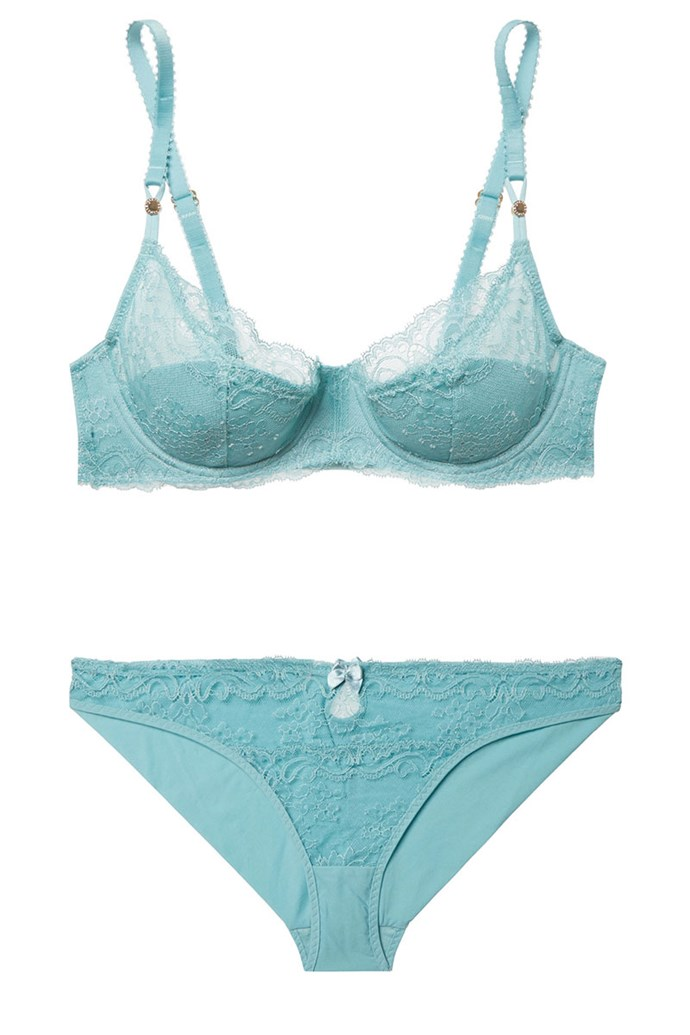 "Lingerie, $248, Stella McCartney at [Net-A-Porter](https://www.net-a-porter.com/au/en/product/903424/stella_mccartney/poppy-playing-stretch-leavers-lace-underwired-balconette-bra|target=""_blank"")."