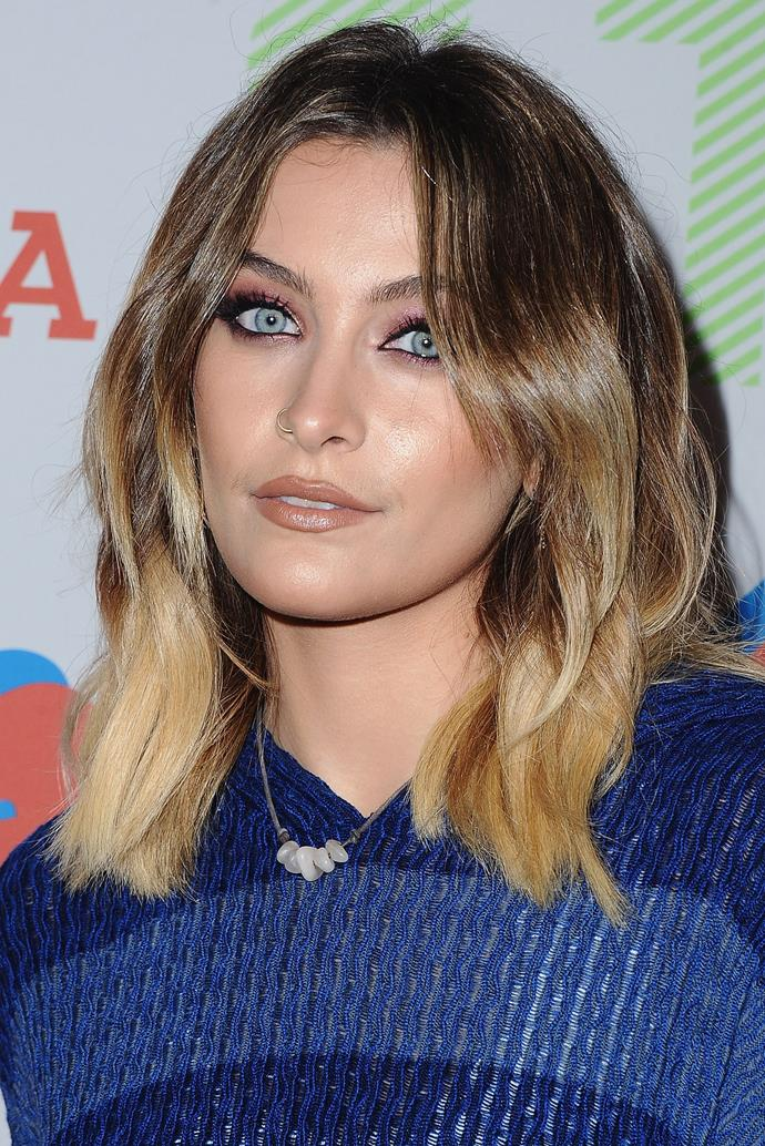 Paris began 2018 by debuting a slightly more polished look, chopping her hair into a tousled lob and only very slightly contouring her face. But she did make sure to rock her heavy black liner once more.