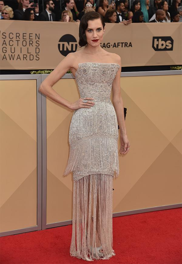 Allison Williams at the 2018 SAG Awards.