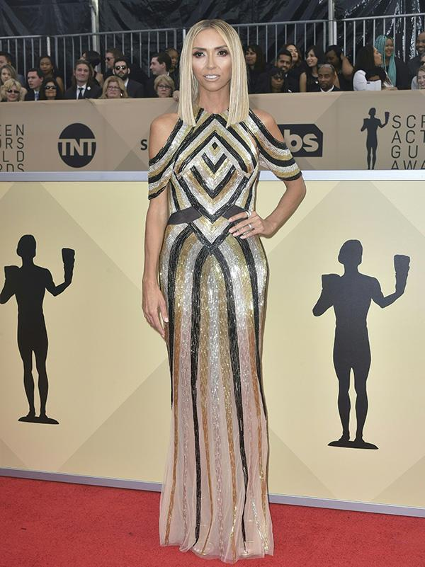 Giuliana Rancic in Steven Khalil at the 2018 SAG Awards.