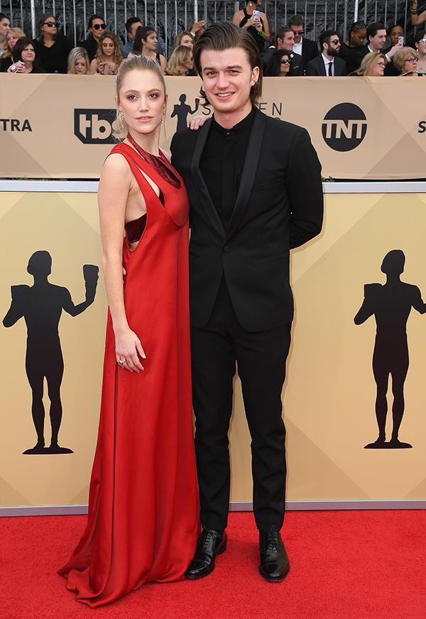 Joe Keery and Malika Monroe at the 2018 SAG Awards.