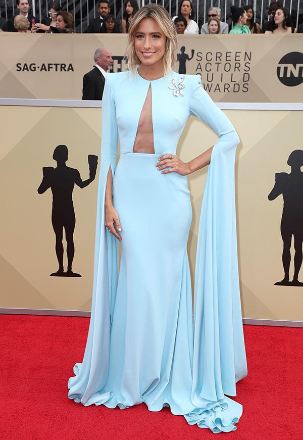 Renee Bargh at the 2018 SAG Awards.