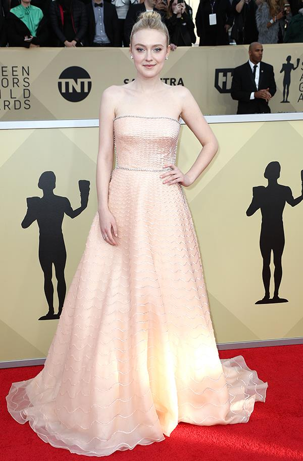 Dakota Fanning at the 2018 SAG Awards.