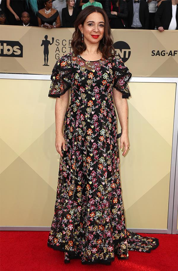 Maya Rudolph at the 2018 SAG Awards.