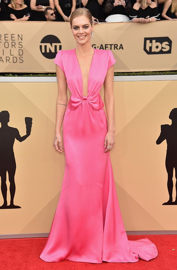 Samara Weaving at the 2018 SAG Awards.