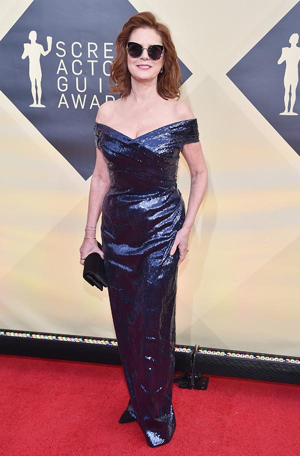 Susan Sarandon at the 2018 SAG Awards.