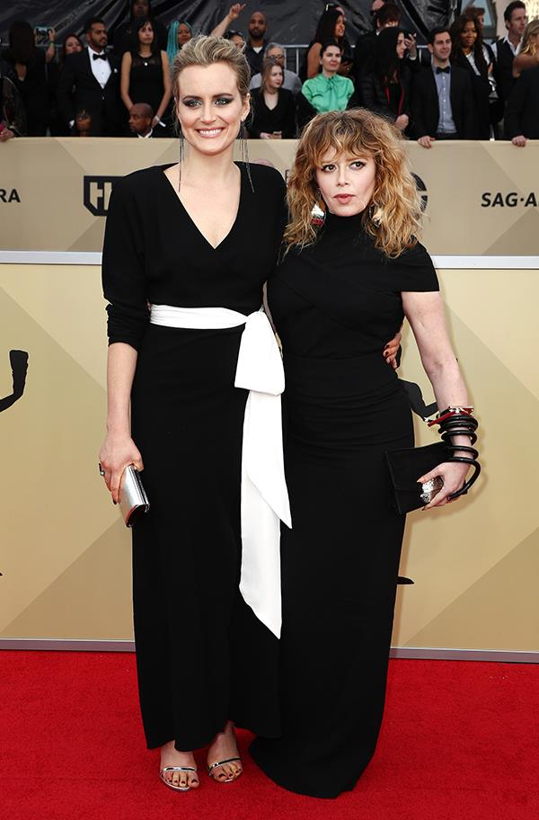 Taylor Schilling and Natasha Lyonne at the 2018 SAG Awards.