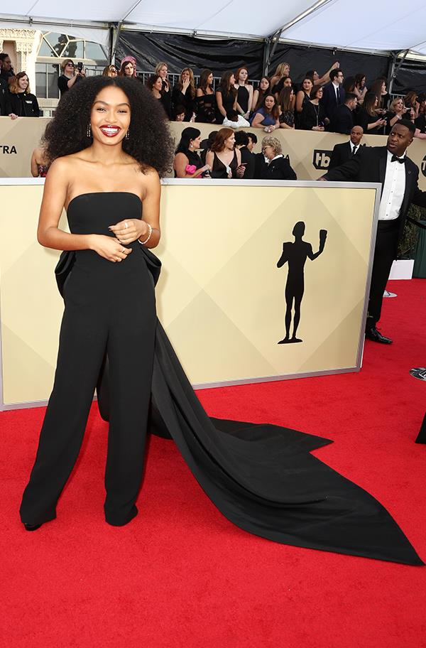 Yara Shahidi at the 2018 SAG Awards.
