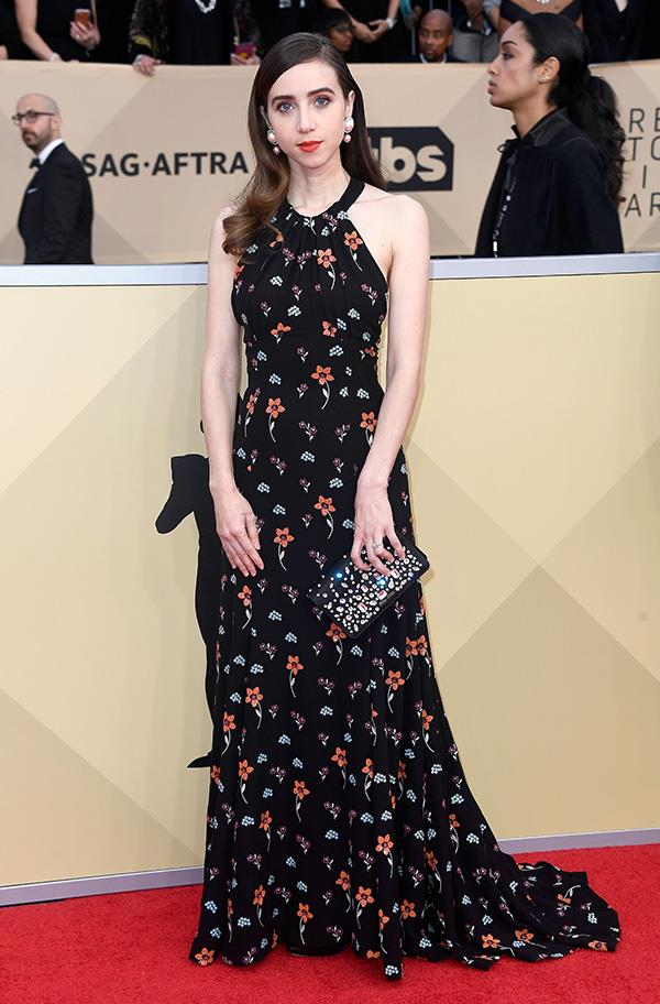 Zoe Kazan at the 2018 SAG Awards.